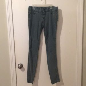 teal free people jeans